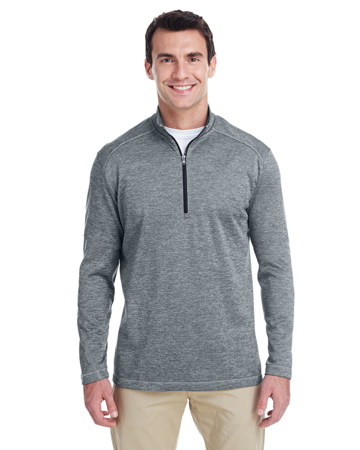 Men's 3-Stripes Heather Quarter-Zip