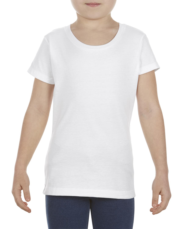Girls' 4.3 oz., Ringspun Cotton T-Shirt