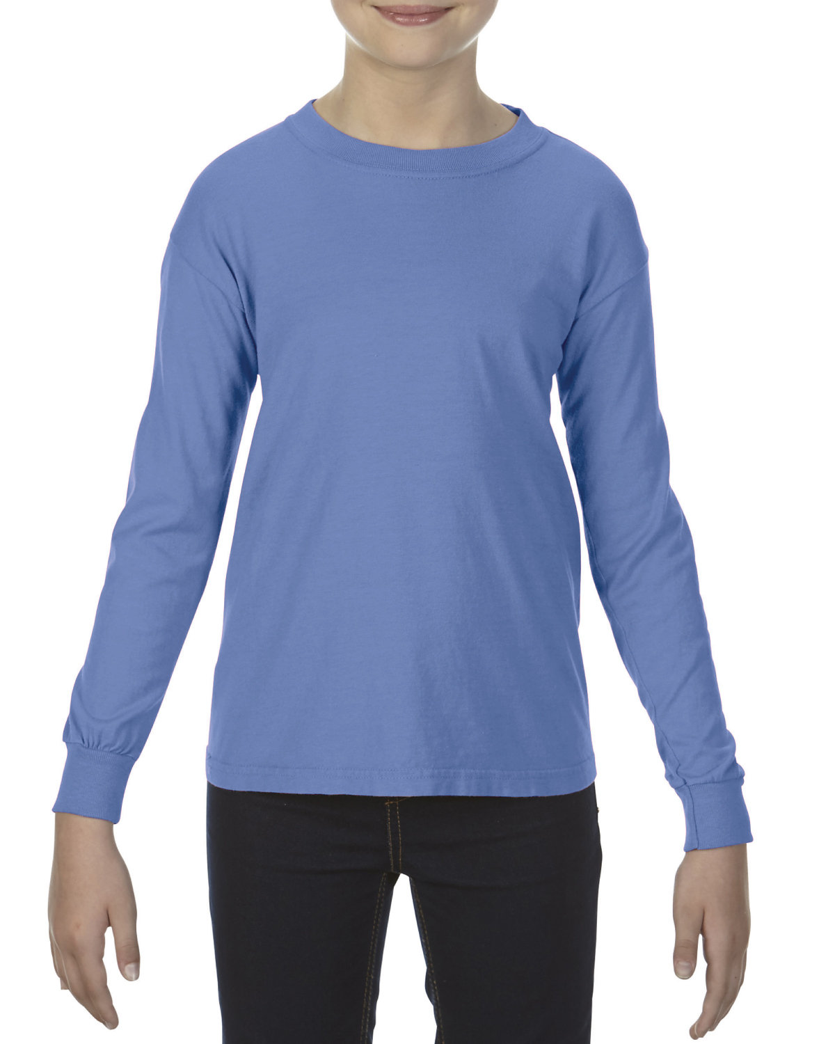 Youth 5.4 oz. Garment-Dyed Long-Sleeve T-Shirt