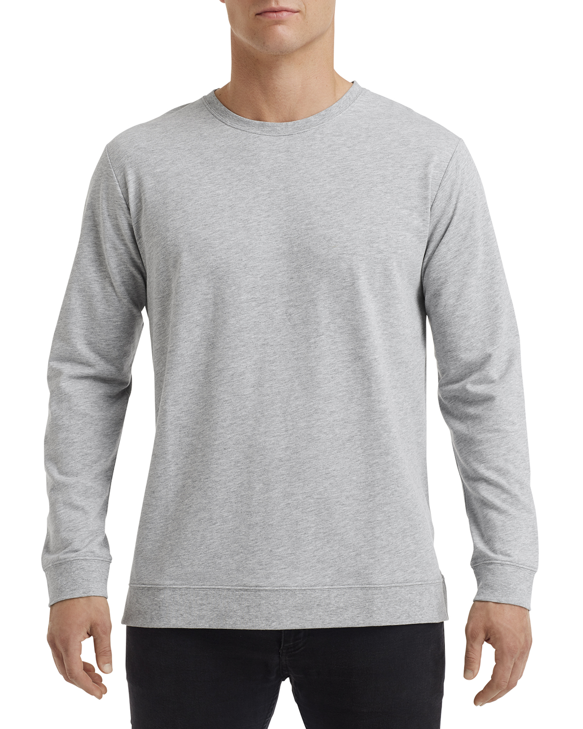 Anvil 73000 Unisex Light Terry Crew