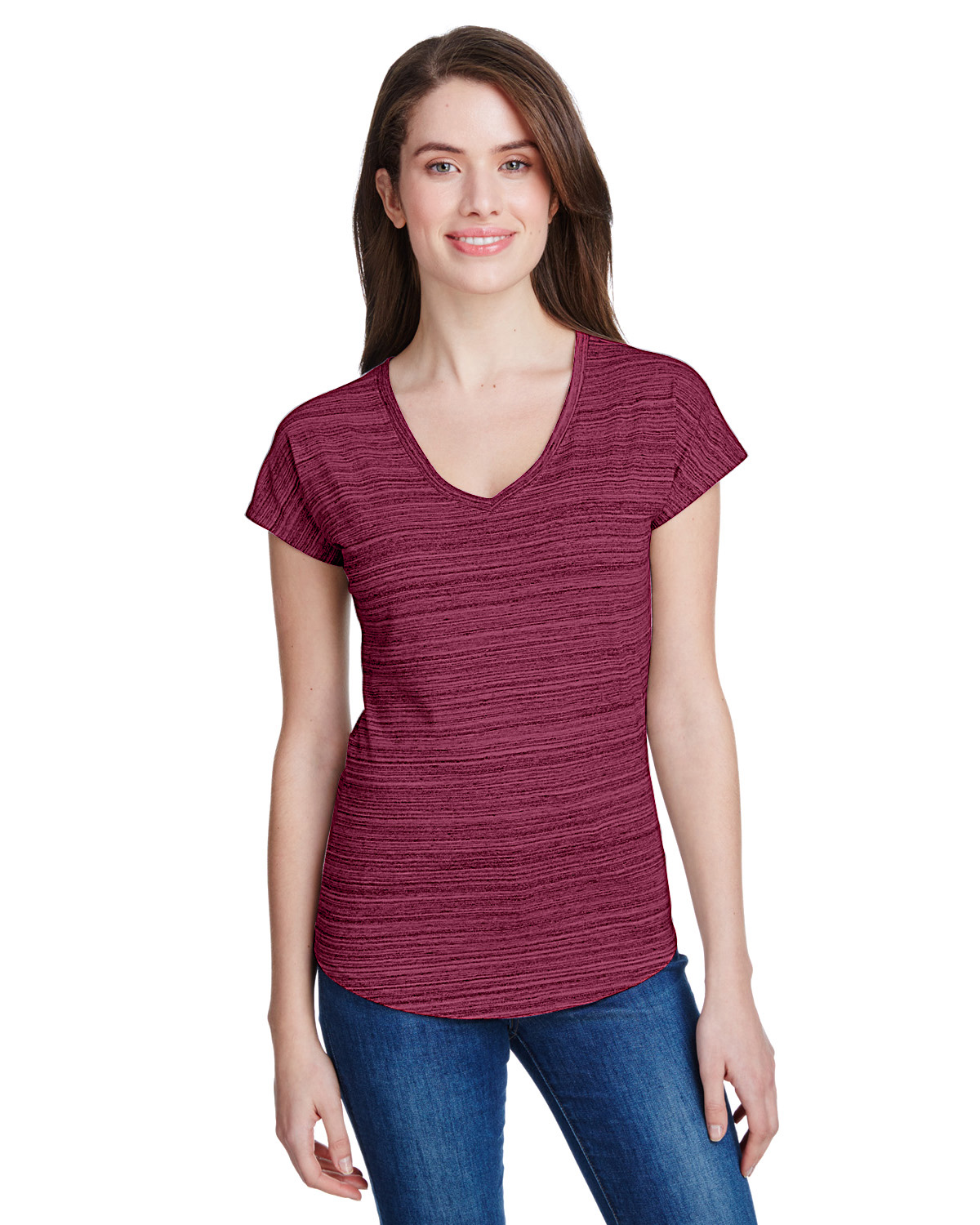 Ladies' Streak V-Neck T-Shirt