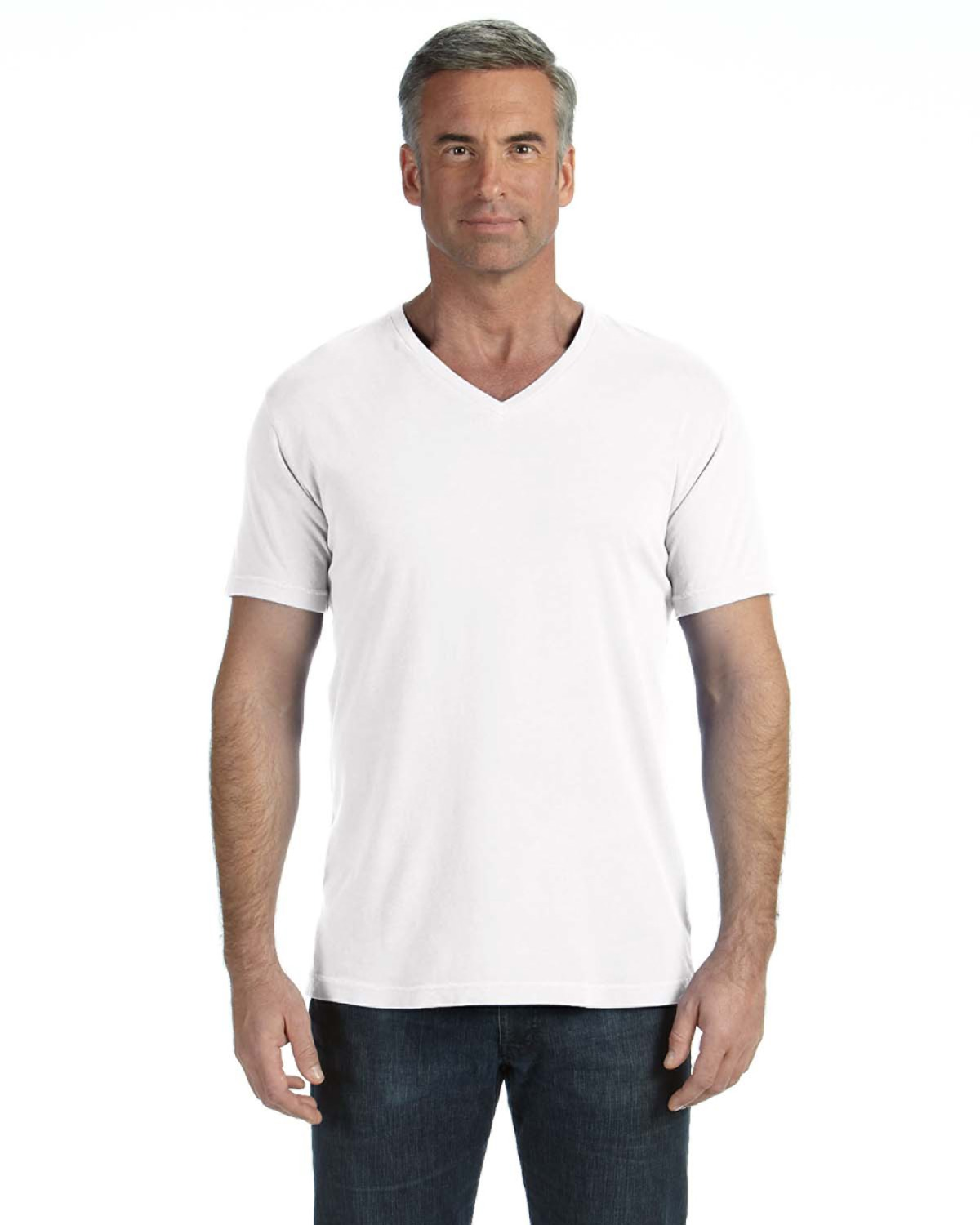 Adult Midweight Ringspun V-Neck T-Shirt