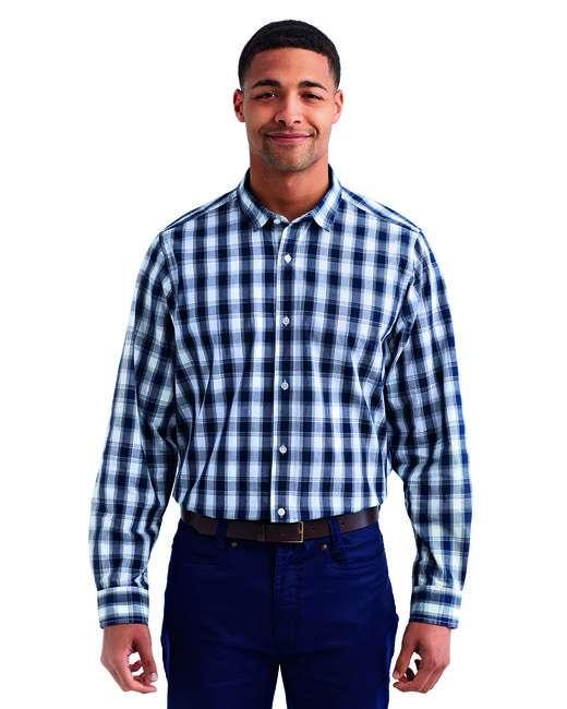 Men's Mulligan Check Long-Sleeve Cotton Shirt
