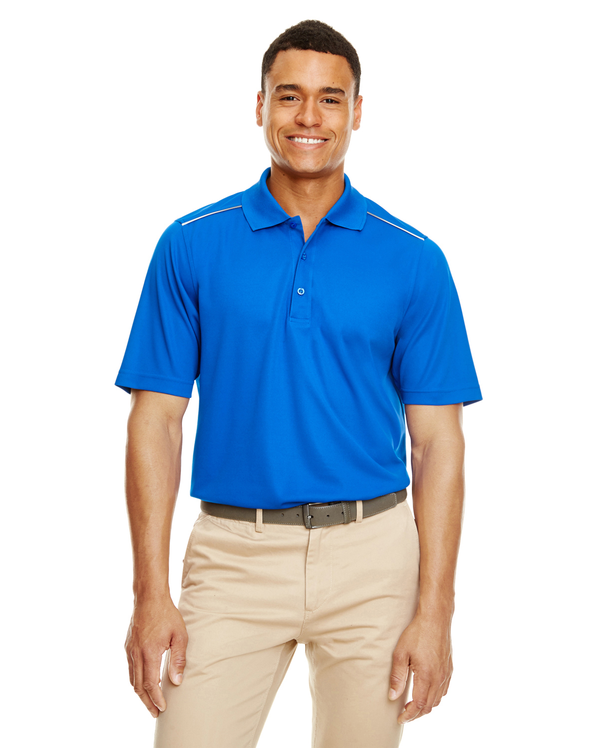 Men's Radiant Performance Pique© Polo with Reflective Piping