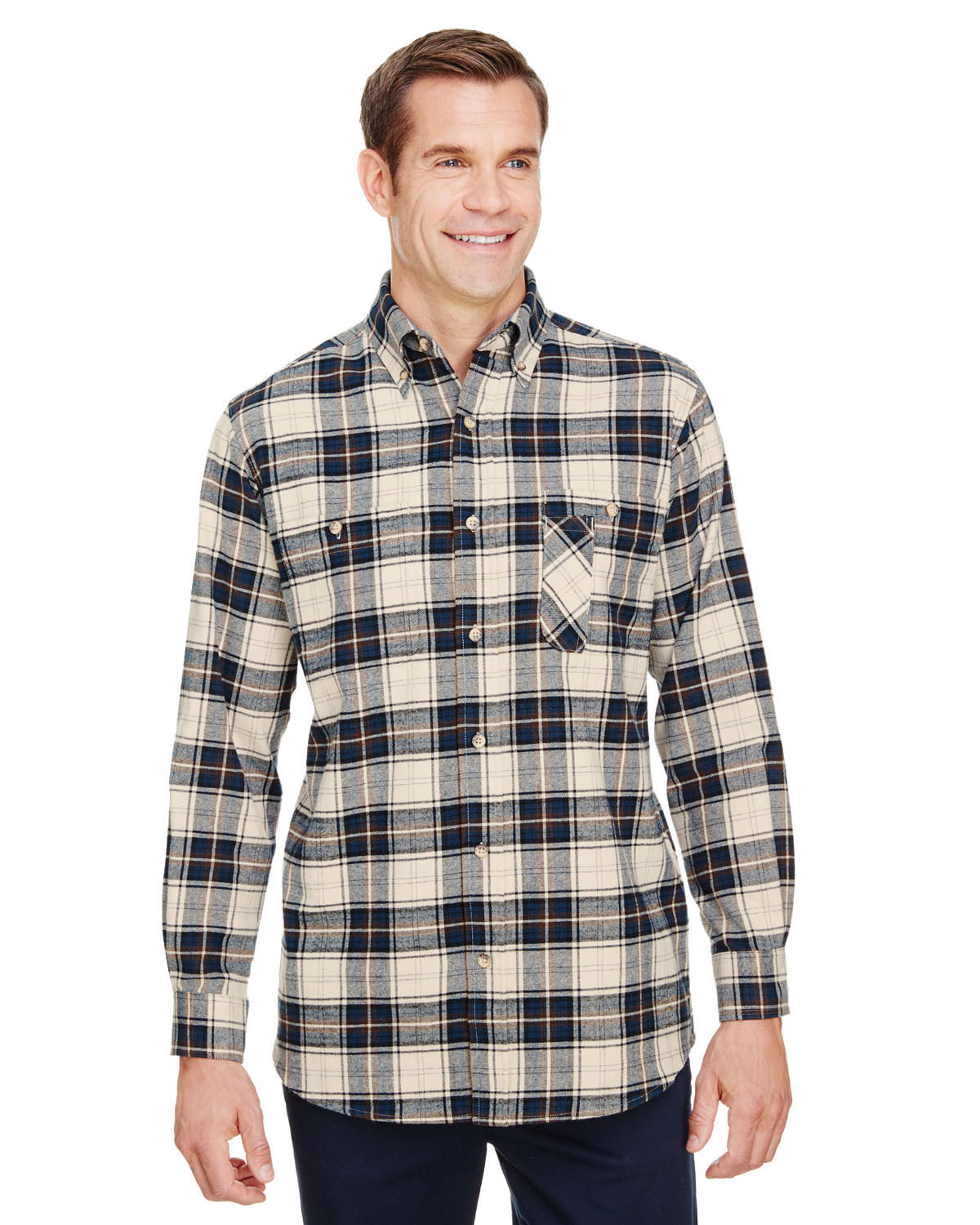 Men's Tall Yarn-Dyed Flannel Shirt