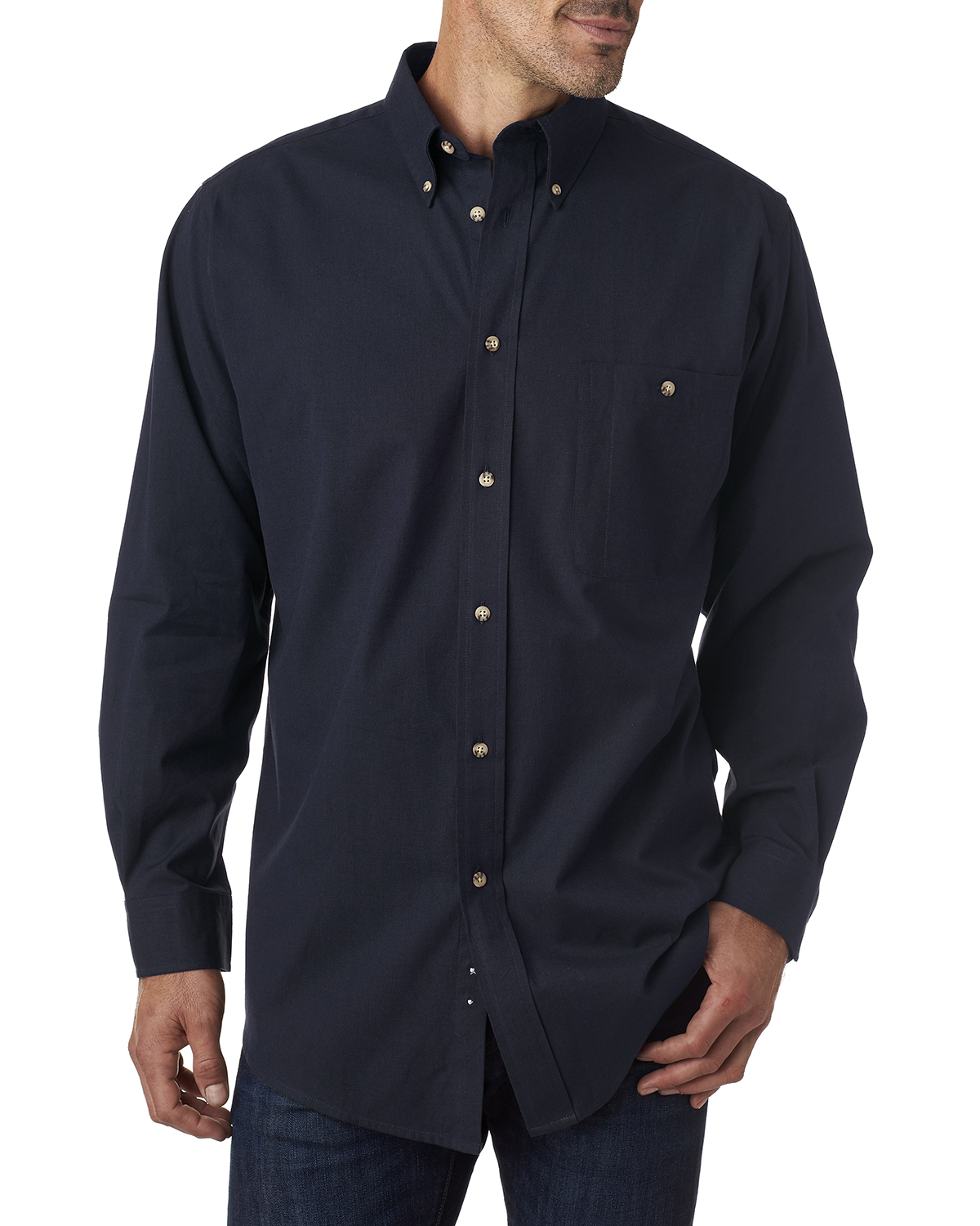 Men's Tall Nailhead Long-Sleeve Woven Shirt