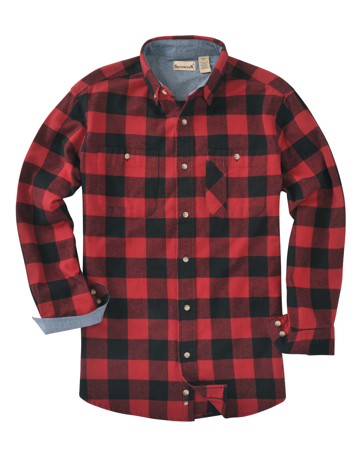Men's Tall Yarn-Dyed Long-Sleeve Brushed Flannel