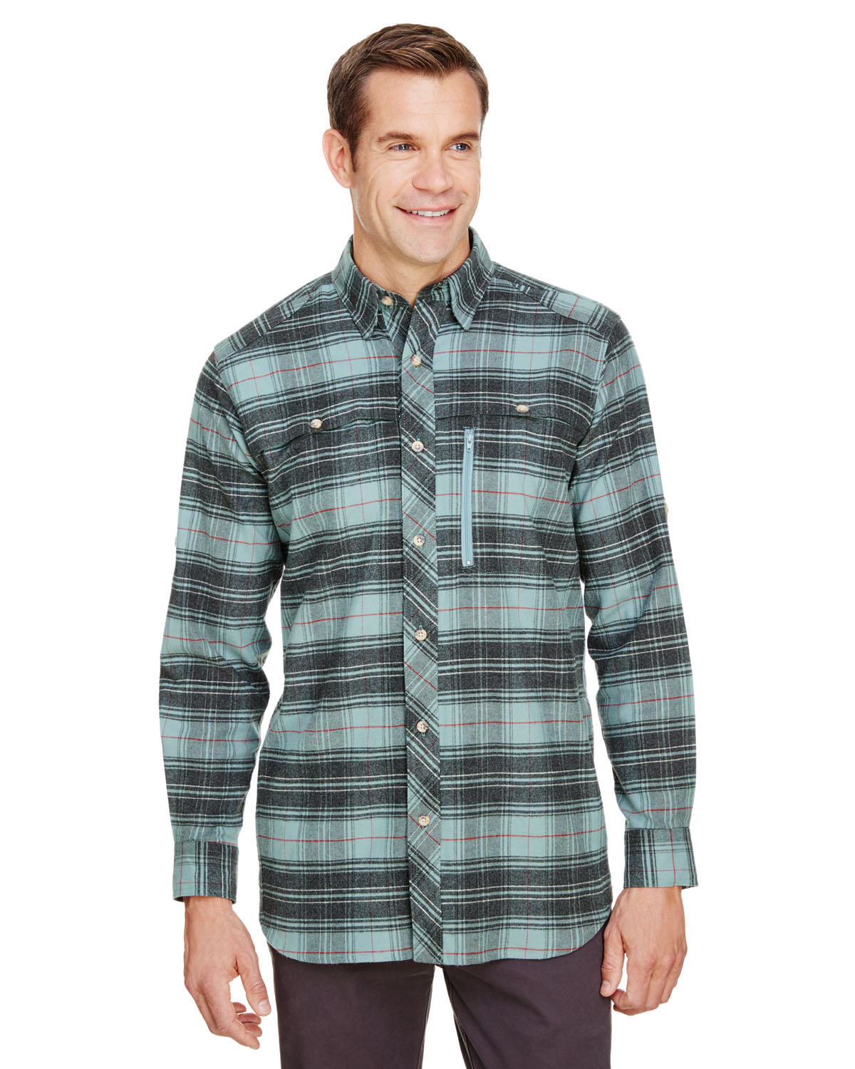 Men's Tall Stretch Flannel Shirt