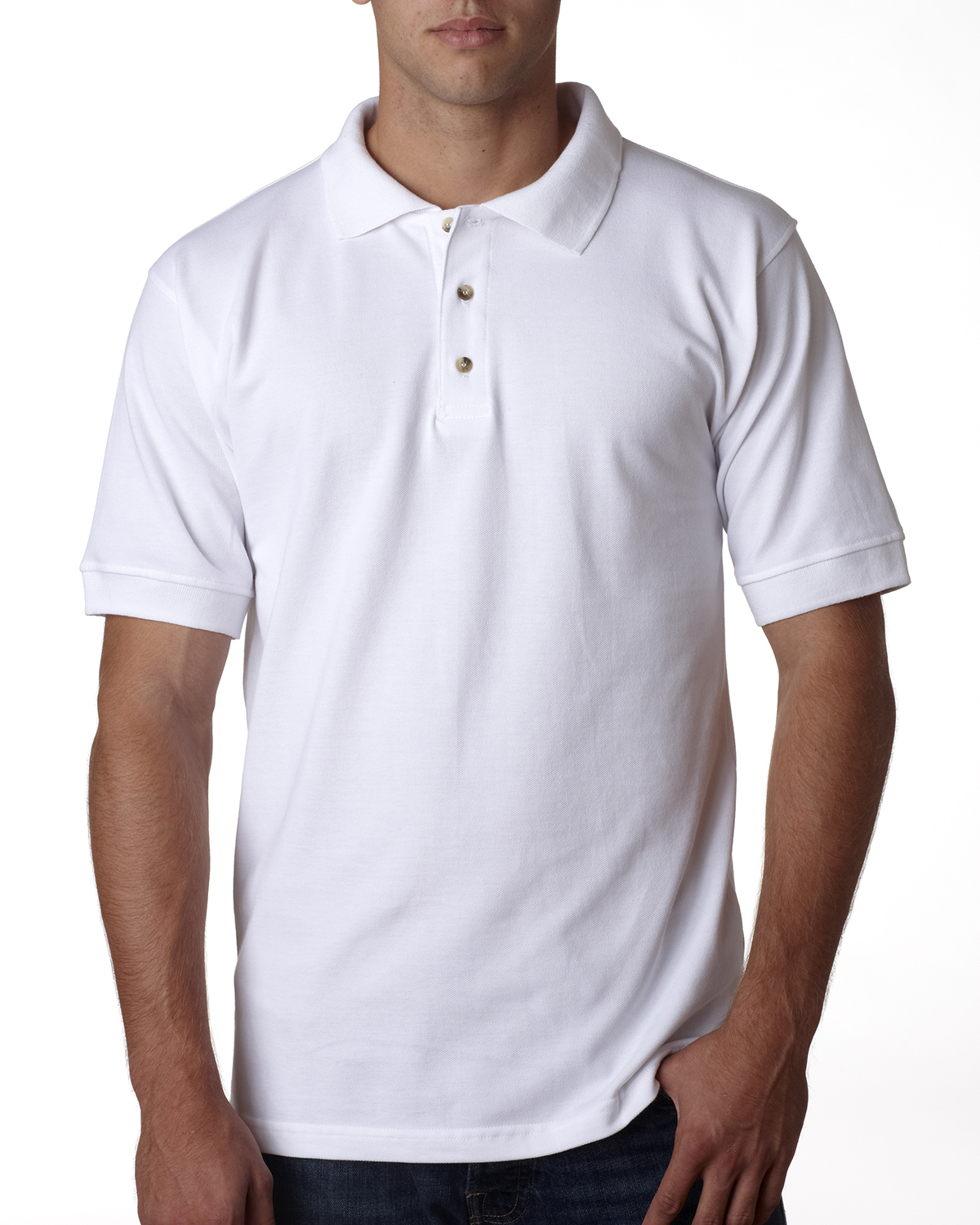 Adult 6.1 oz., Cotton Pique Polo