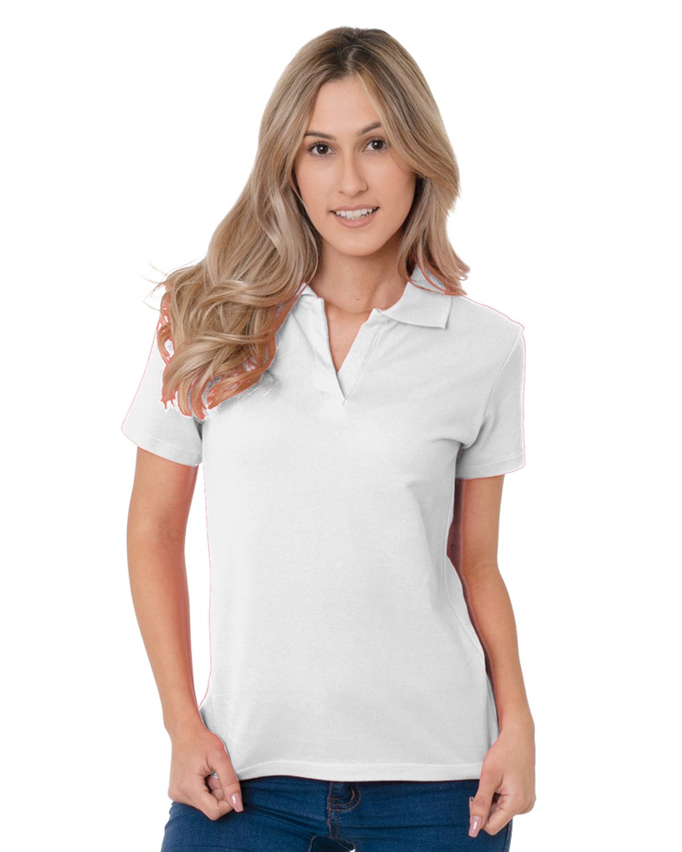 Women's 6.2 oz., 100% Cotton V-Neck Polo