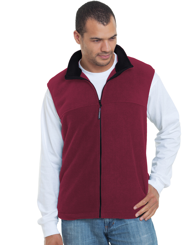 Unisex Full-Zip Polar Fleece Vest