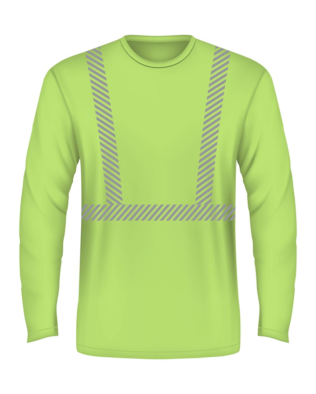 5.4 oz., 50/50 Hi-Visibility Segmanted Striping Long-Sleeve T-Shirt