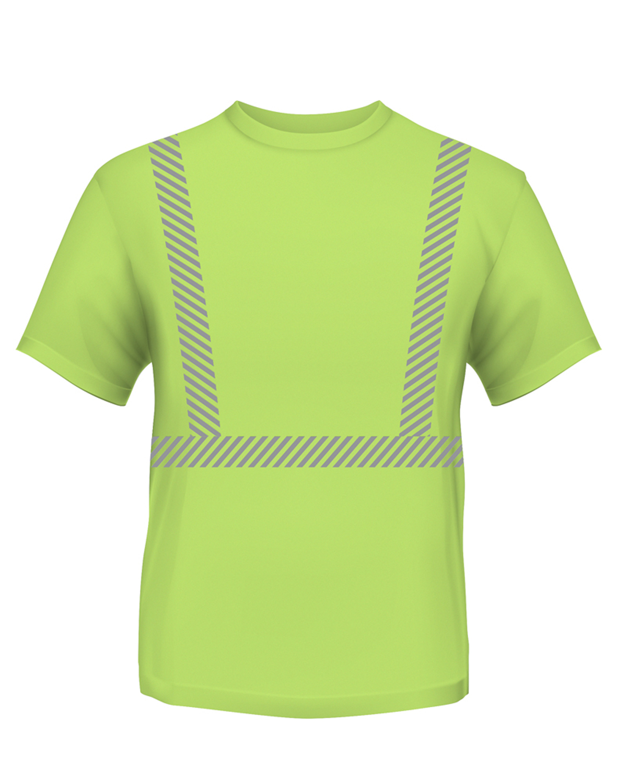 4.5 oz., Polyester Performance Hi-Visibility Segmented Striping T-Shirt