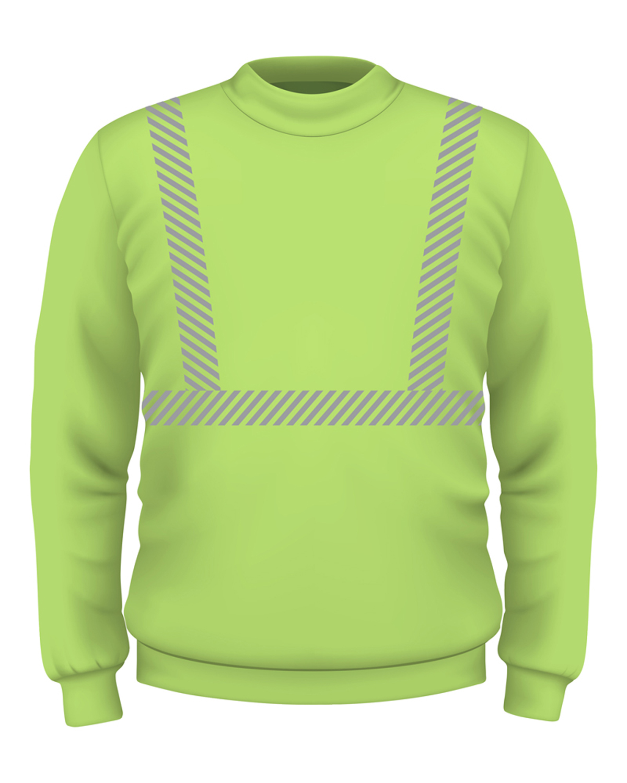 9.5 oz., 80/20 Hi-Visibility Segmented Striping Crewneck Sweatshirt