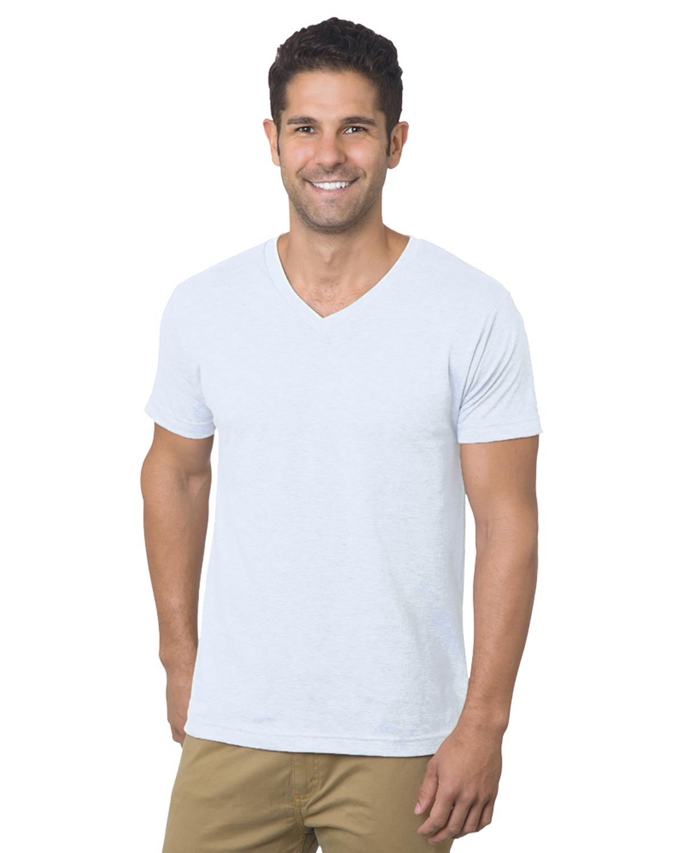 Unisex 4.2 oz., Fine Jersey V-Neck T-Shirt