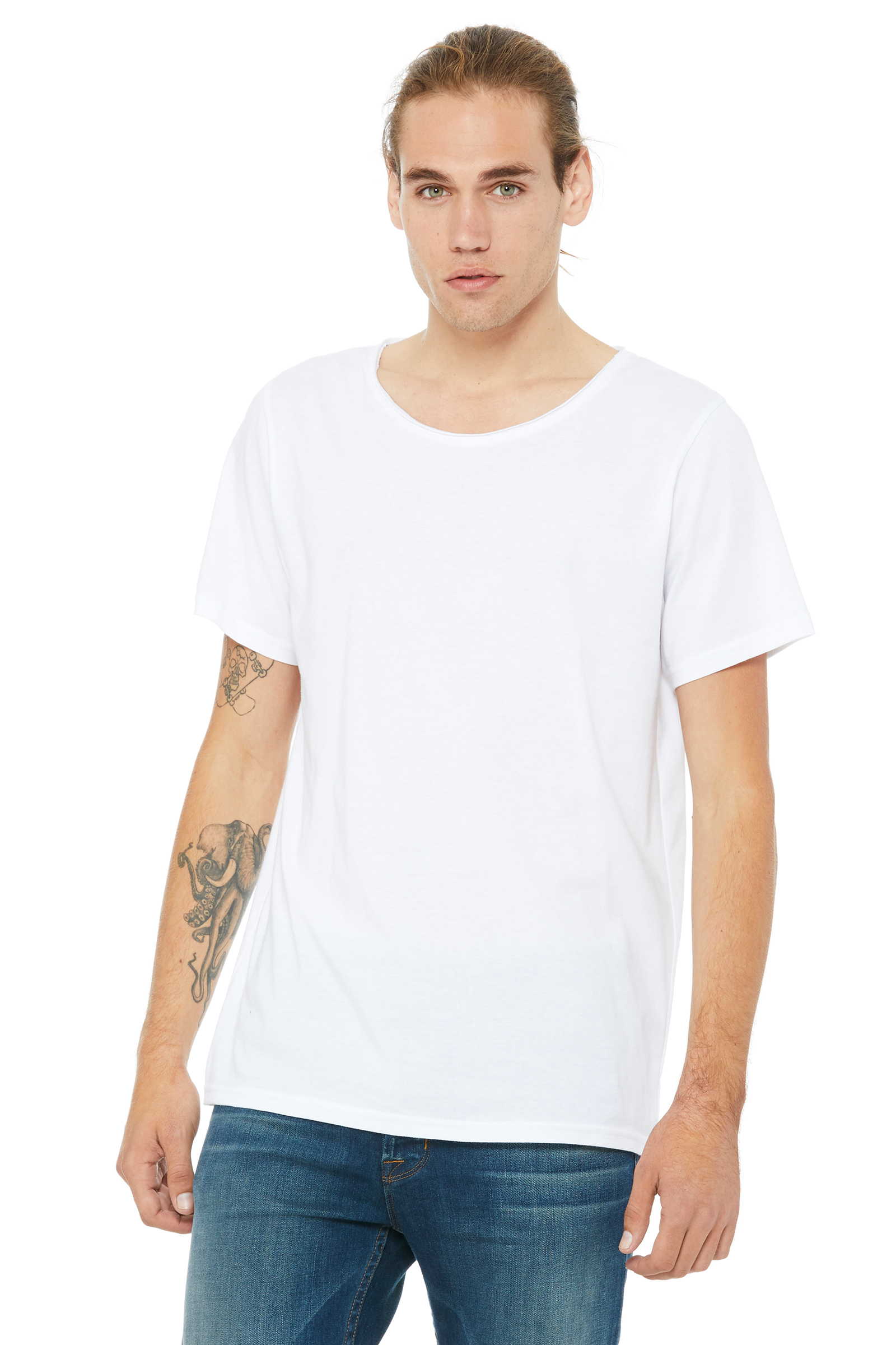 Men's Jersey Raw Neck T-Shirt