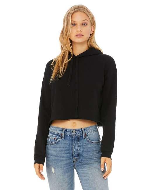 Ladies' Cropped Fleece Hoodie
