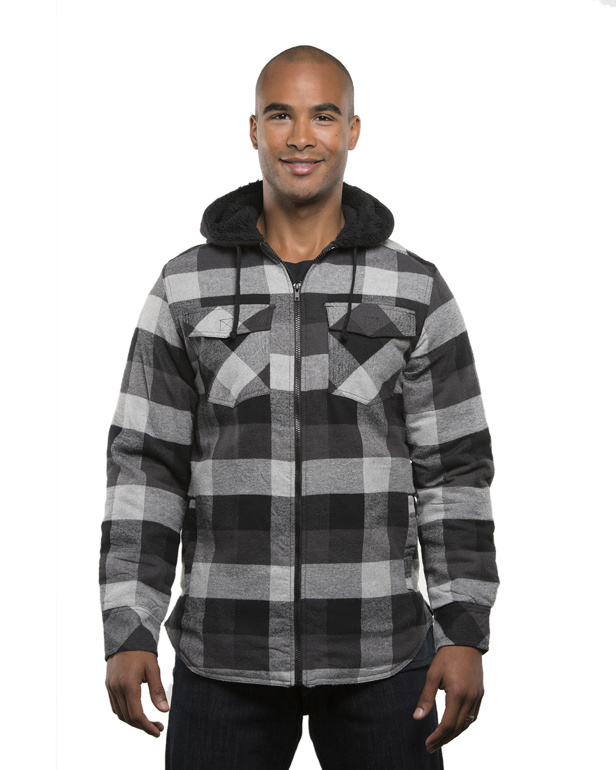 Men's Hooded Flannel Jacket