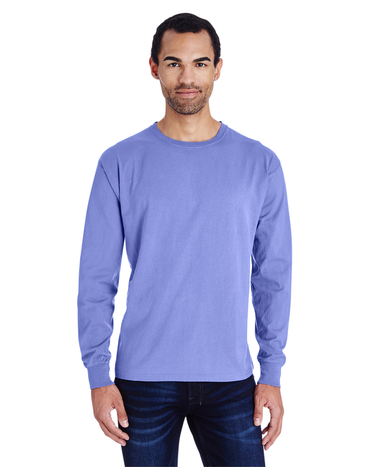 Unisex 5.5 oz., 100% Ringspun Cotton Garment-Dyed Long-Sleeve T-Shirt