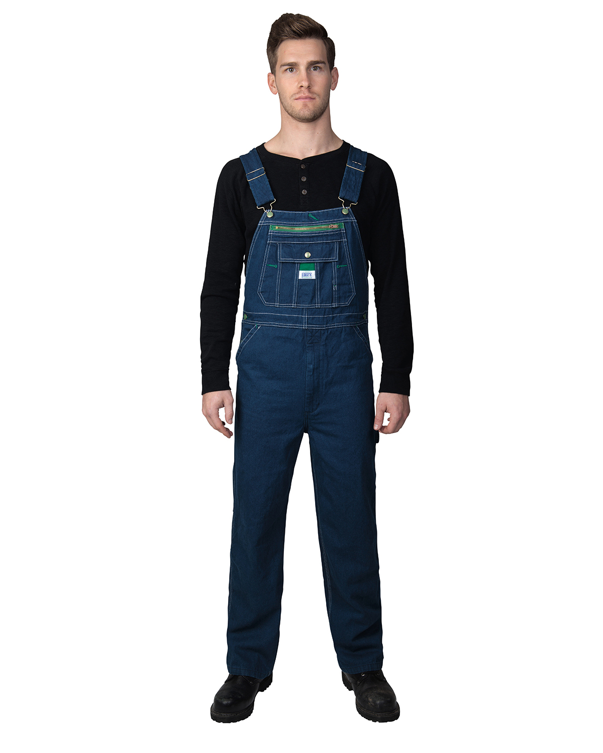 Unisex Liberty Rigid Denim Bib Overall