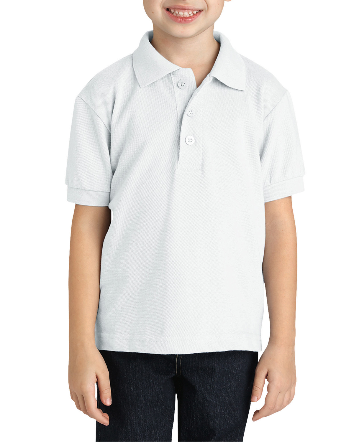 Youth  Short-Sleeve Pique Polo