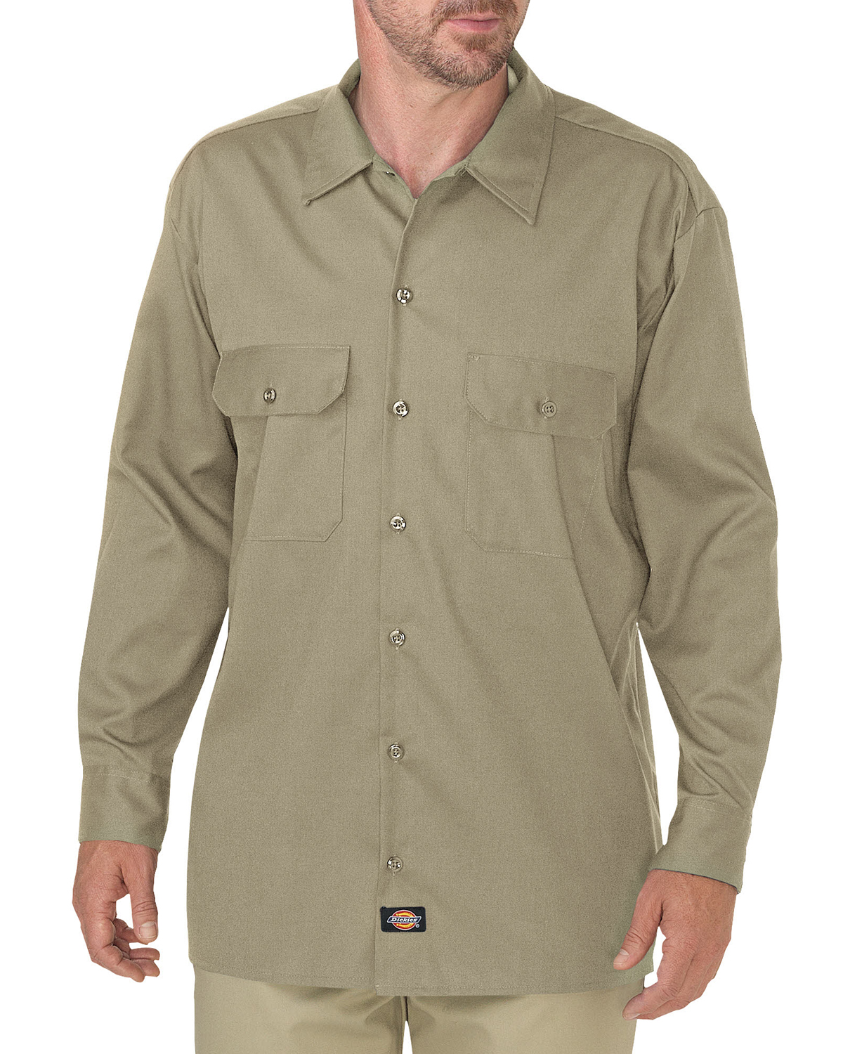 Men's FLEX Relaxed Fit Long-Sleeve Twill Work Shirt