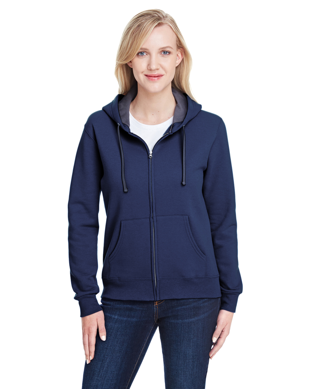 Ladies' 7.2 oz. Sofspun® Full-Zip Hooded Sweatshirt
