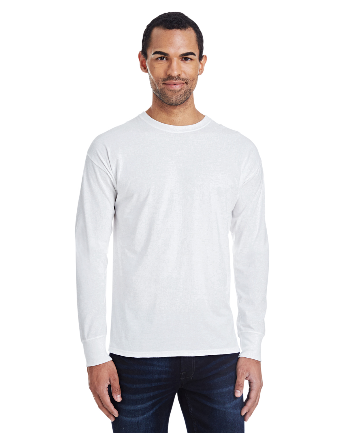 Men's 4.5 oz., 60/40 Ringspun Cotton/Polyester X-Temp® Long-Sleeve T-Shirt