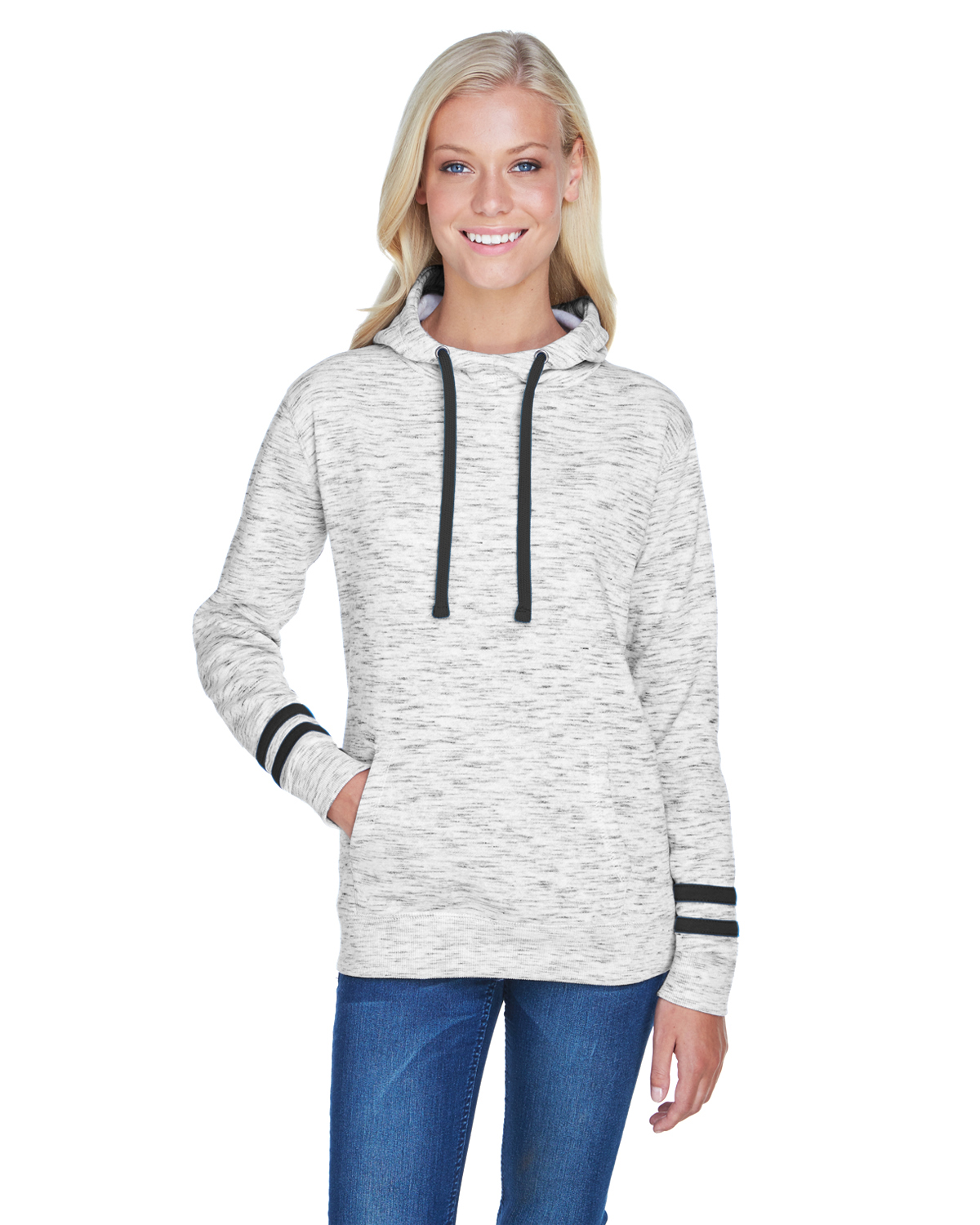 Ladies' Melange Scuba Neck Sweatshirt