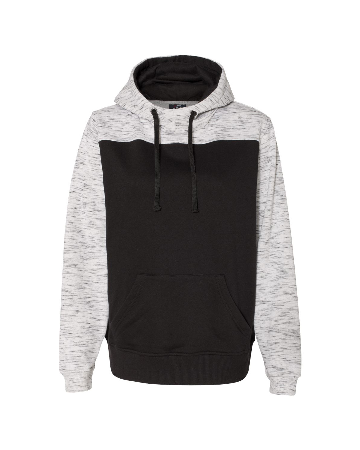 Adult Melange Color Blocked Hooded Sweatshirt