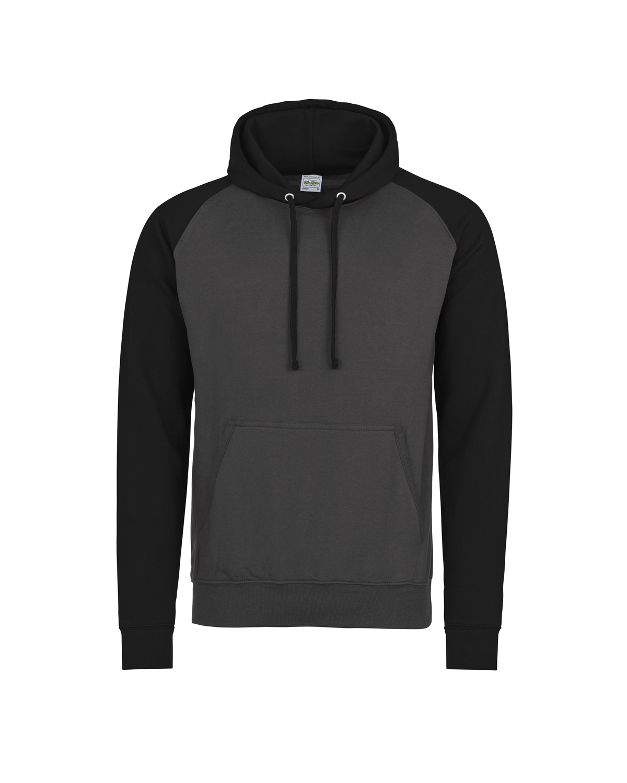 Adult 80/20 Midweight Contrast Baseball Hooded Sweatshirt