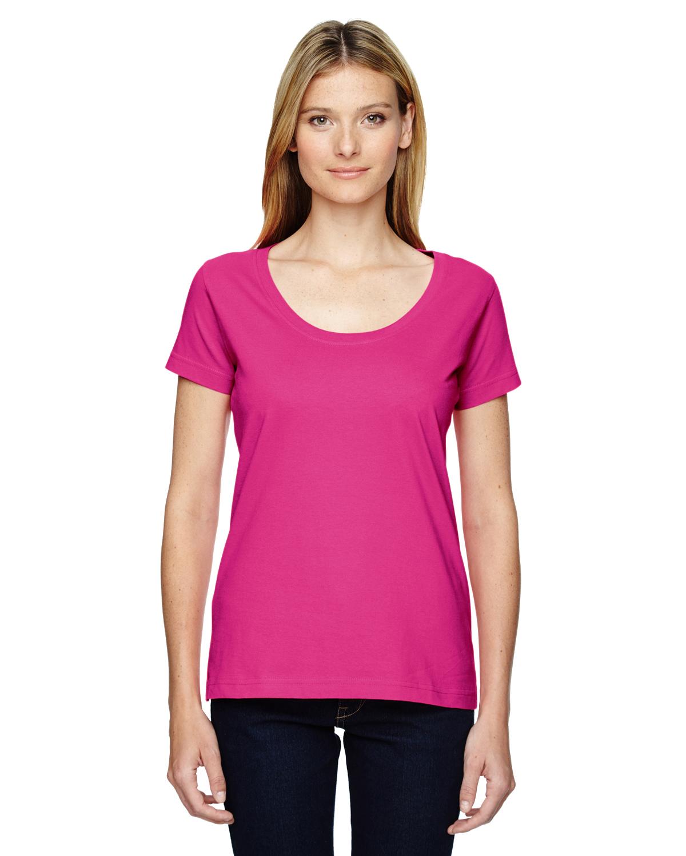Ladies' Scoop Neck Fine Jersey T-Shirt