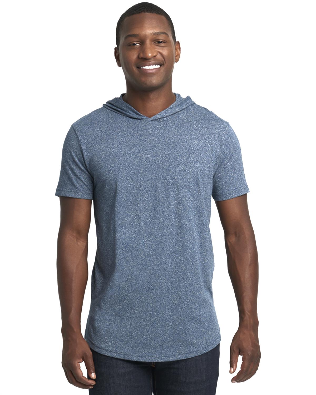 Unisex Mock Twist Short Sleeve Hoody T-Shirt