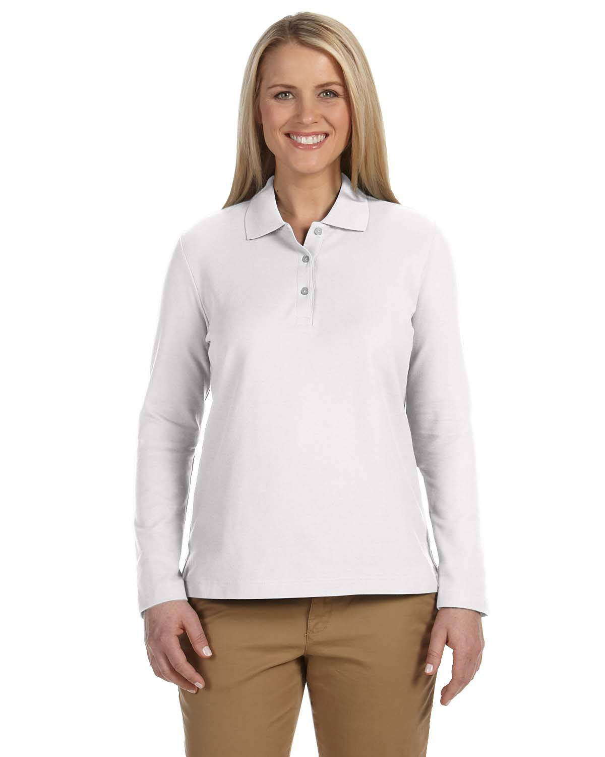 Ladies' Pima Piqué Long-Sleeve Polo