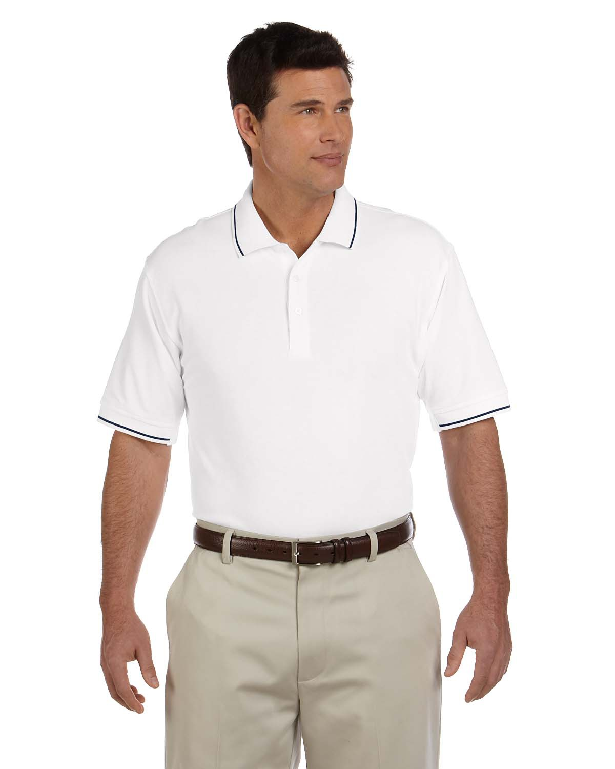 Men's Pima Pique Short-Sleeve Tipped Polo