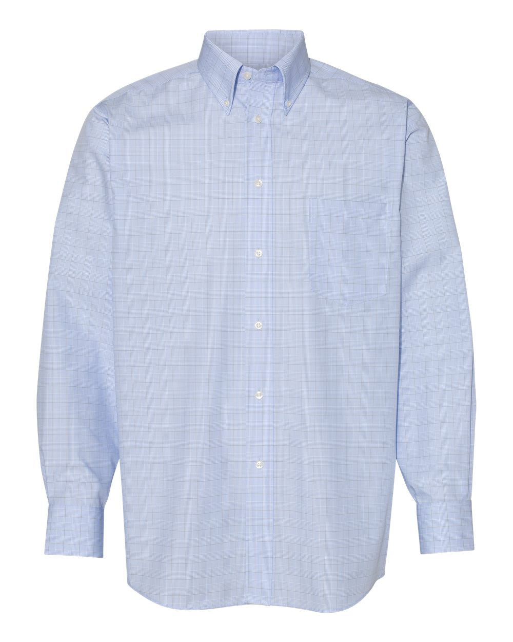 Blue Suitings Non-Iron Patterned Shirt