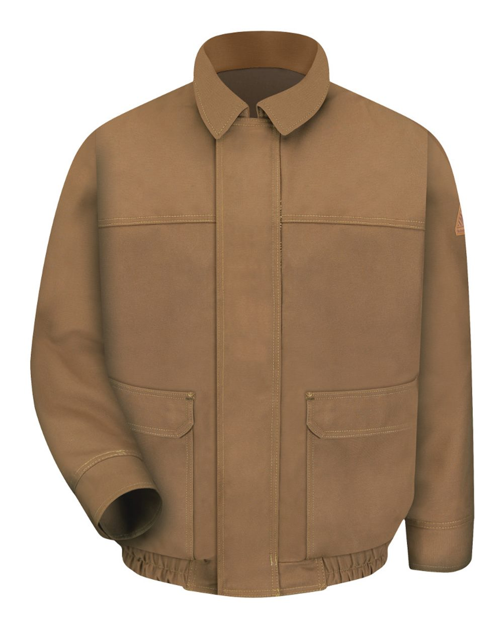 Brown Duck Lined Bomber Jacket - EXCEL FR® ComforTouch® - Long Sizes
