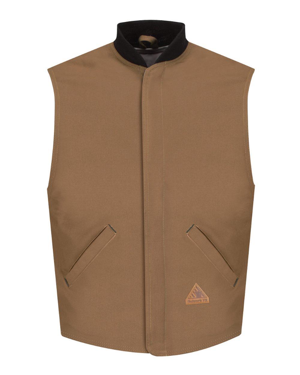 Brown Duck Vest Jacket Liner - EXCEL FR® ComforTouch® - Long Sizes