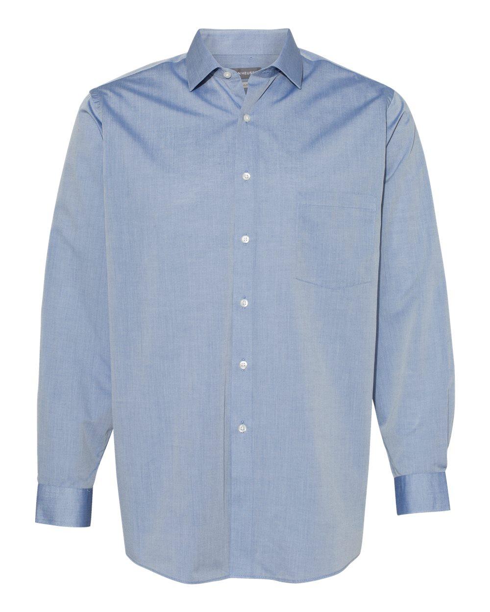 Chambray Spread Flex Collar Shirt