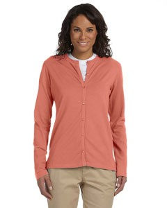 Ladies' Stretch Jersey Long-Sleeve Cardigan