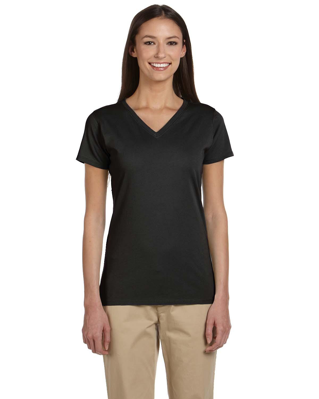 Ladies' 4.4 oz. 100% Organic Cotton Short-Sleeve V-Neck T-Shirt