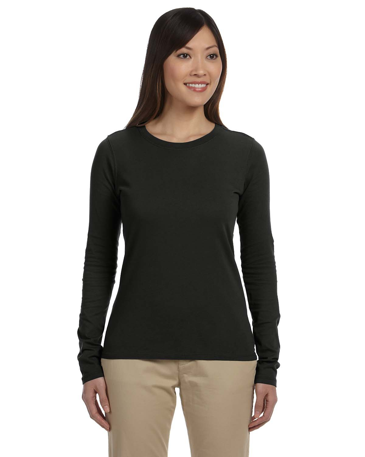 Ladies' 4.4 oz. 100% Organic Cotton Classic Long-Sleeve T-Shirt