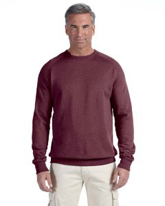 Men's 7 oz. Organic/Recycled Heathered Fleece Raglan Crew