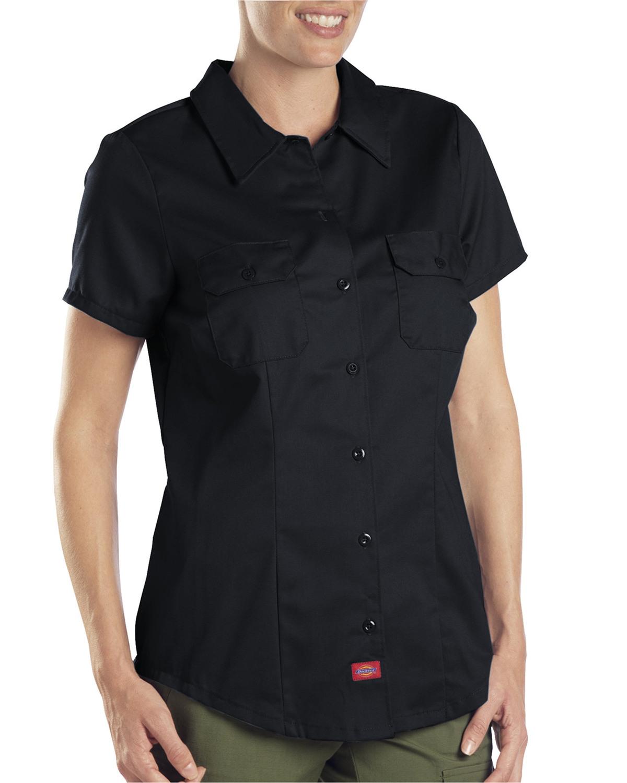 Ladies 5.25 oz. Short-Sleeve Twill Work Shirt