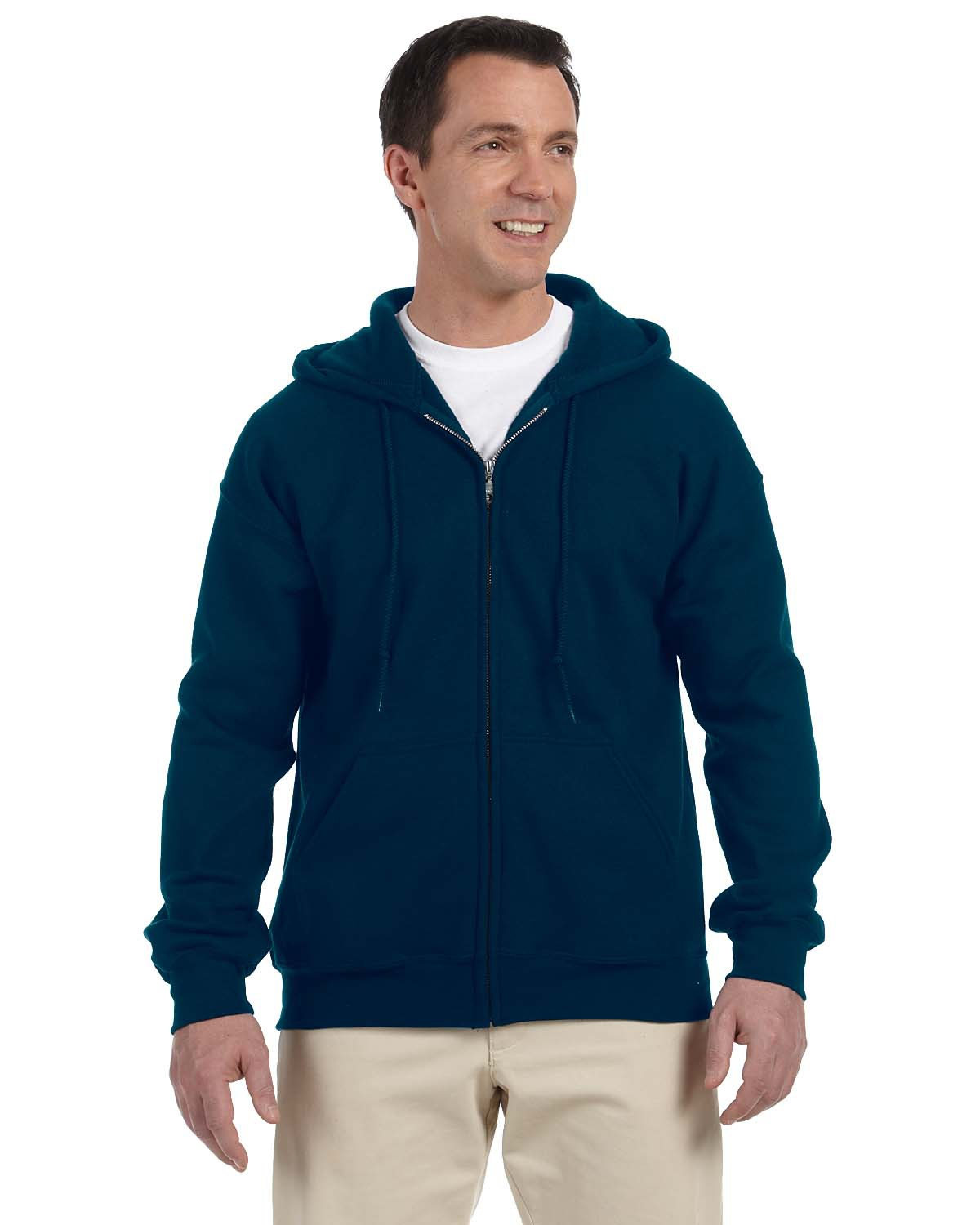 Adult DryBlend® 9.0 oz. 50/50 Full-Zip Hood