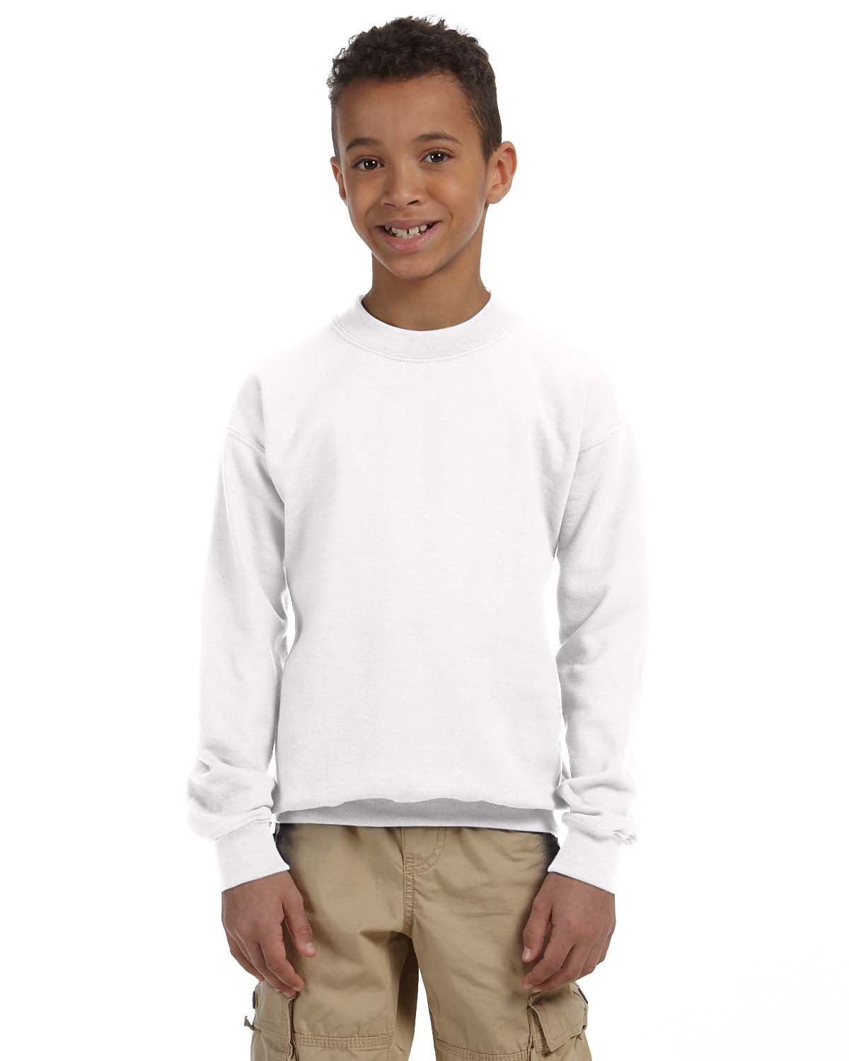 Youth Heavy Blend™ 8 oz. 50/50 Fleece Crew
