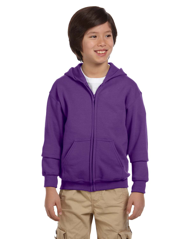 Youth Heavy Blend™ 8 oz. 50/50 Full-Zip Hood