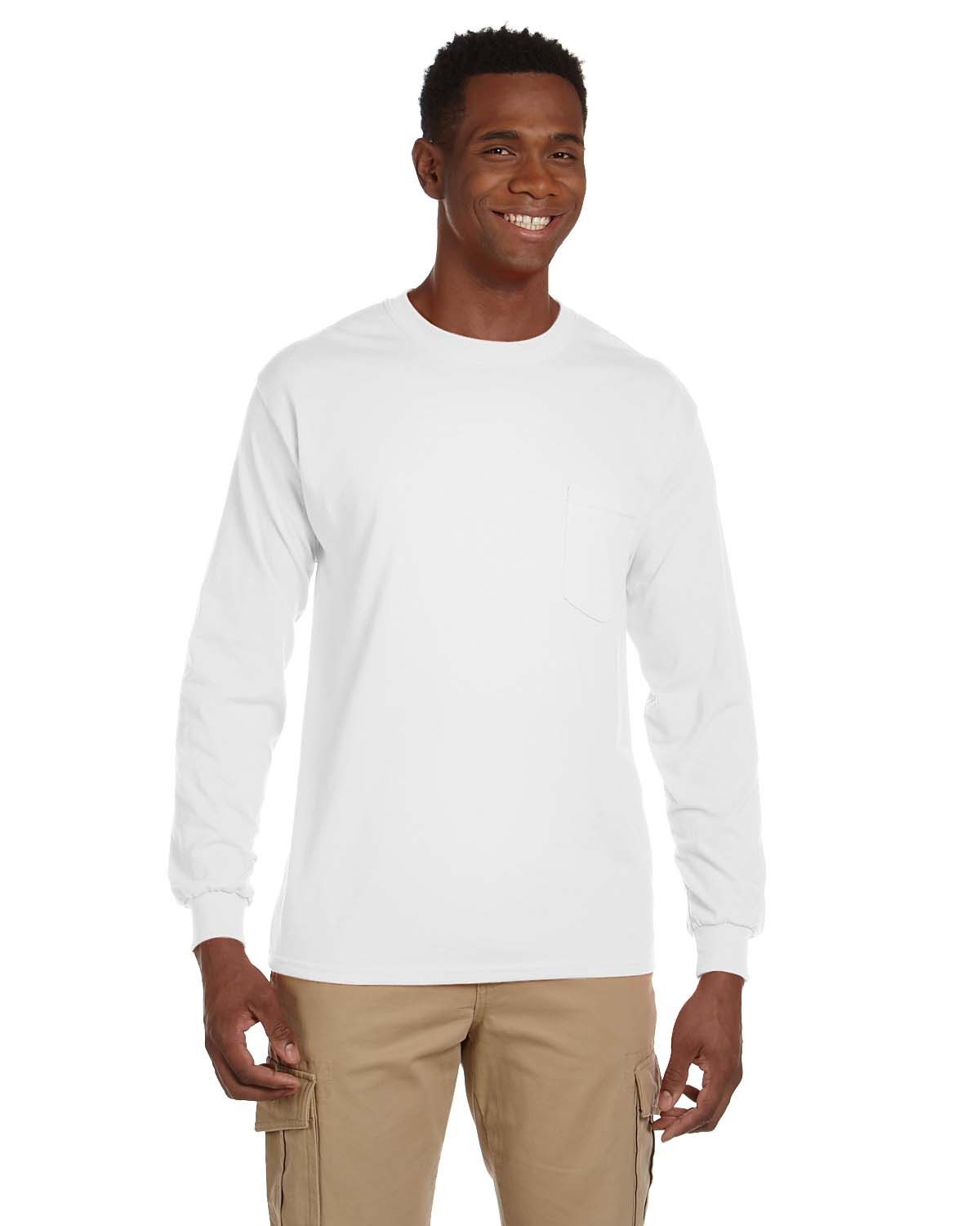 Adult Ultra Cotton® 6 oz. Long-Sleeve Pocket T-Shirt