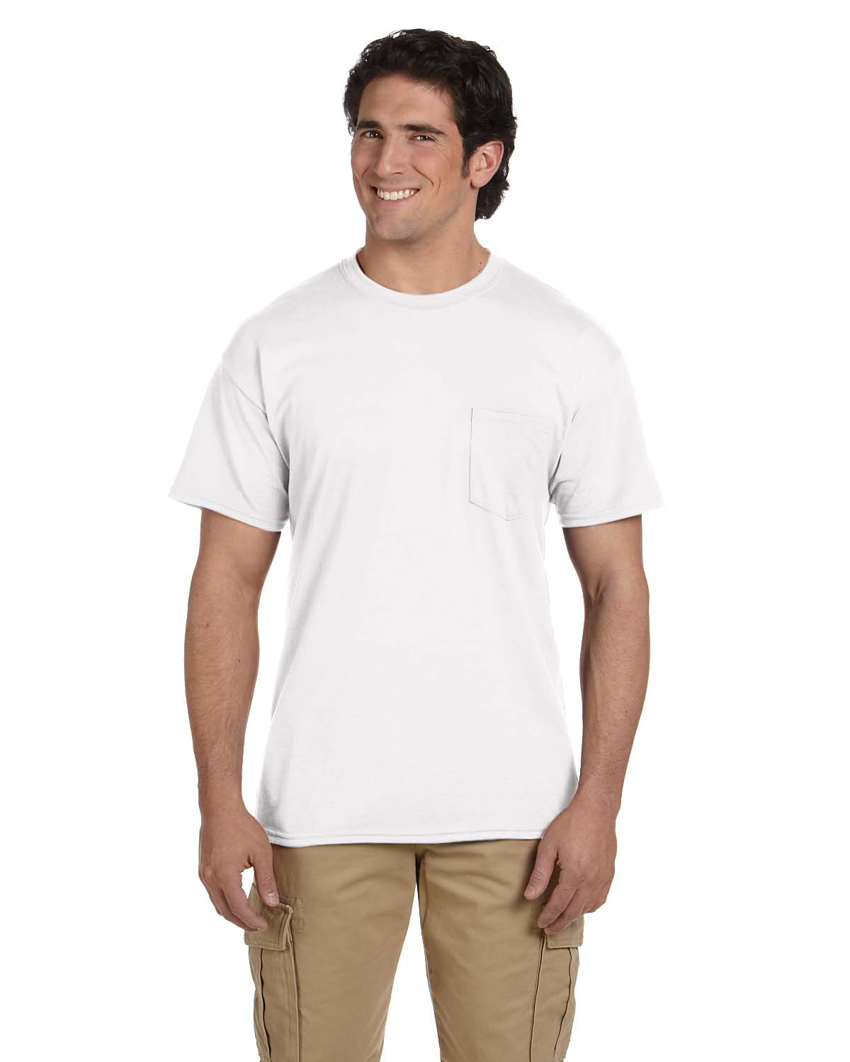 Adult DryBlend® 5.5 oz. 50/50 Pocket T-Shirt