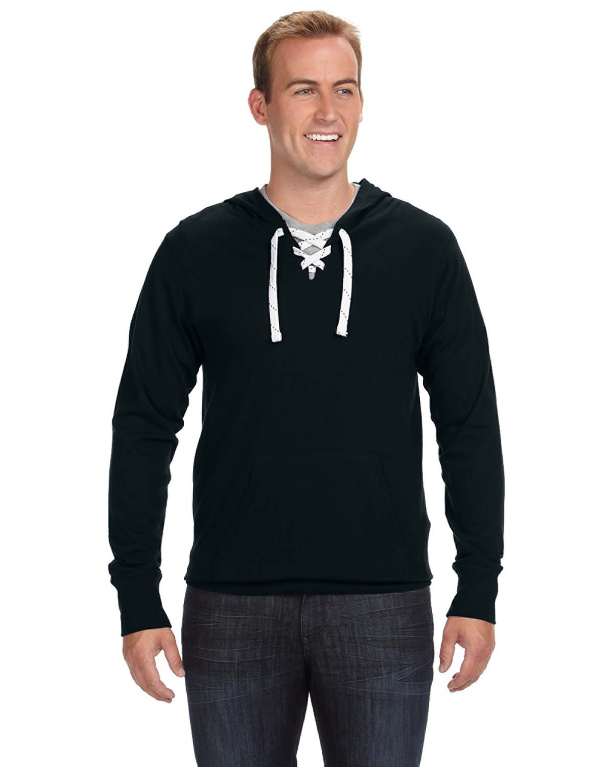 Adult Sport Lace Jersey Hood